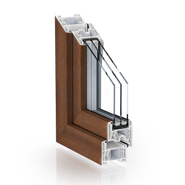 KÖMMERLING 76 double seal standard walnut