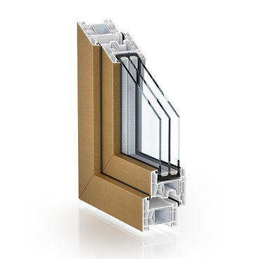 KÖMMERLING 76 double seal standard proCoverTec Bronze single-sided