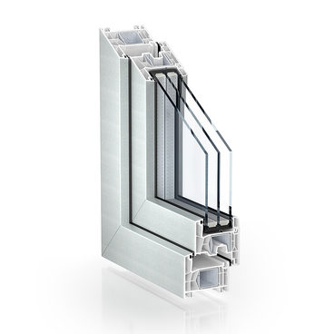 KÖMMERLING 76 double seal standard proCoverTec Silver single-sided