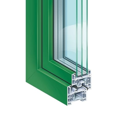 KÖMMERLING 76 centre seal standard proCoverTec emerald green