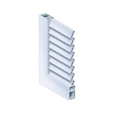 Naxos hinged shutter inclined slat