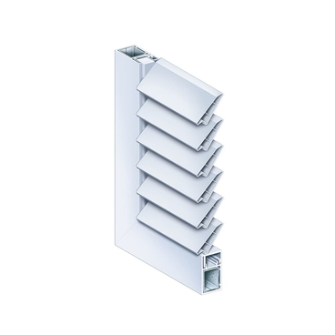 Hinged shutter Naxis universal slat inclined