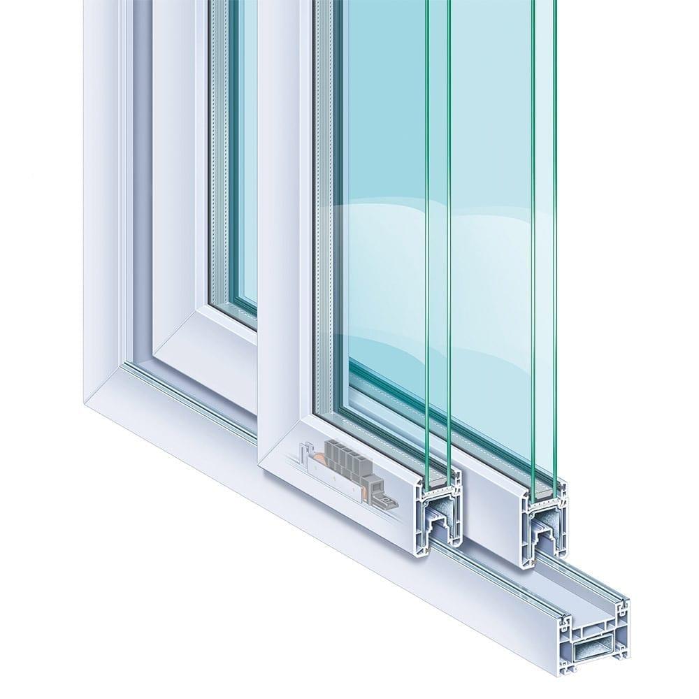 Okna patio doors schiebefenster schiebetr premiline for Schiebe fenster