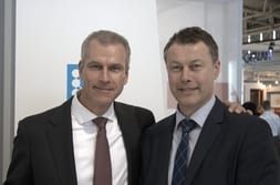 BAU MUNICH 2015 – Dr Mrosik with customer