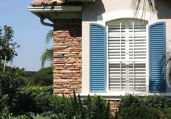 Boarded & French shutters of PVC-U