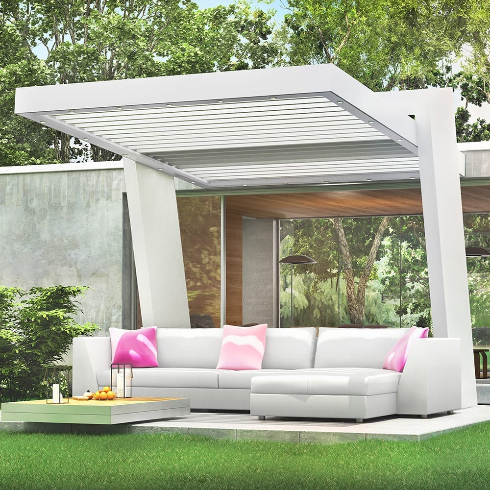 pergola en kit aluminium maison design. Black Bedroom Furniture Sets. Home Design Ideas