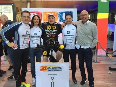 Bike Team mit Joey Kelly