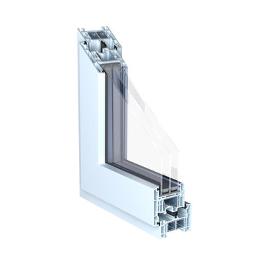 KÖMMERLING 76 double seal casement outward opening white